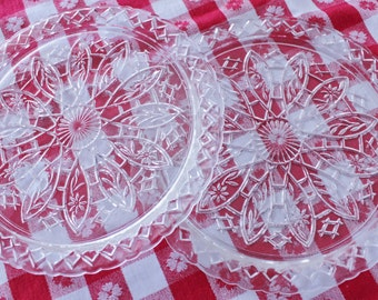 Pressed Glass Serving Plates
