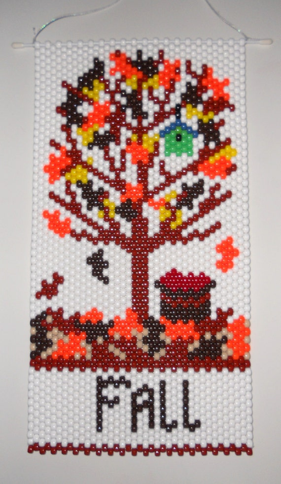 items similar to handmade beaded fall tree beaded