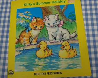 kitty's summer holiday, vintage 1970s children's book