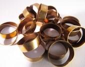 20 Vintage 11mm Round Brass Ring Components Mt128