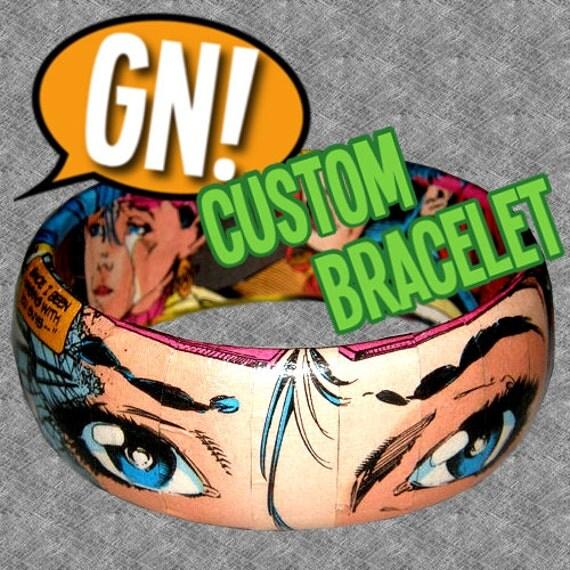 Custom Comic Book Bracelet