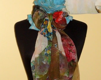 Felted scarf-collar