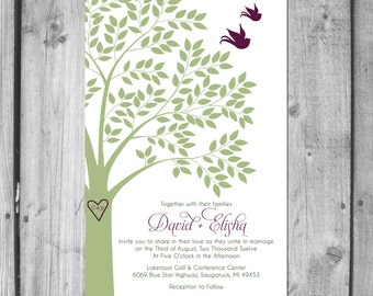 Spring Lovebirds Wedding Invitation Set