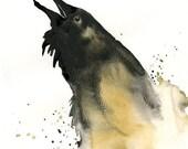 RAVEN Art Print 8x10inch-Home decor-wall art-animal art-Poster
