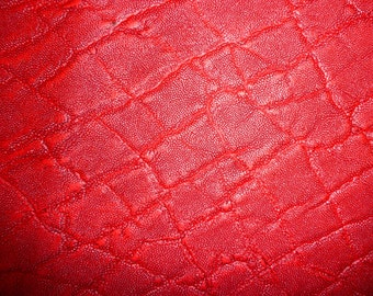 "Leather 6 Pieces 4""x6""  Distressed RED ELEPHANT Embossed Cowhide 2-2.25 / .8-.9 mm PeggySueAlso™"