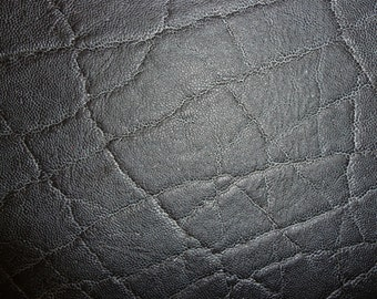 """Leather CLOSEOUT 7 Pack4""""x6"""" Distressed Graphite Black ELEPHANT Embossed Cowhide #616 3-3.25 oz /1.2-1.3 mm PeggySueAlso™"""