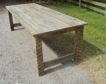 Farm Table with Reclaimed wood FREE SHIPPING