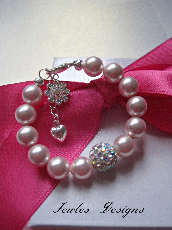 infant jewelry swarovski baby bracelet baptism flower girl. Black Bedroom Furniture Sets. Home Design Ideas