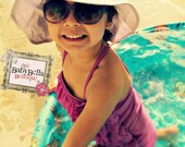 Toddler-Infants Baby Girl Sun  lavander Hat,flower sun hat ,
