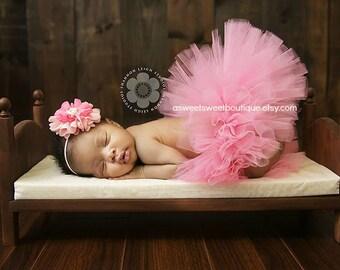 Sweet Newborn Tutu Sweet Pink Chrysanthemum Tutu And Headband Set