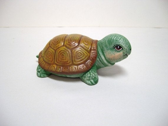 Turtle, ceramic turtle, miniature ceramic turtle