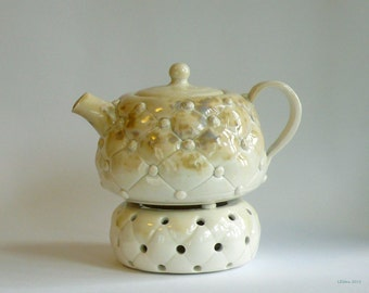 Teapot set with candle holder