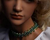 Lovely Green Choker for your Iplehouse EID or SID bjd ladies