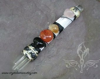 Lower Chakras to Heart Chakra Connection Crystal Healing Wand