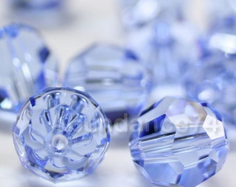 Swarovski Elements Crystal Beads 5000 Round Ball Beads LIGHT SAPPHIRE - Available in 4mm ,6mm ,8mm and 10mm