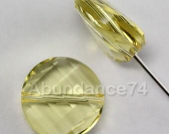 4 pcs Swarovski Crystal 5621 Twist Beads 14mm Crystal Jonquil