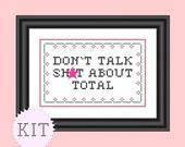 KIT Cross Stitch Funny Quote Tourette's Guy Mature