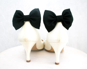Black Shoe clips, Black Bow tie, Shoe Bow tie clips, Prop, Photographer, Bridal black bow, Wedding bow tie