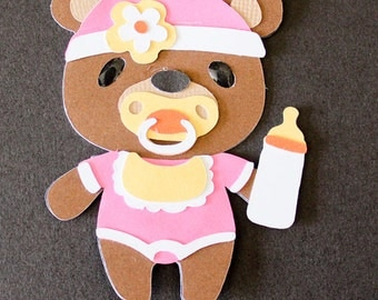 Teddy Bear Die Cut - Baby Girl