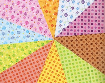 Clover Pattern Double Sided Origami Paper - 20 Sheets