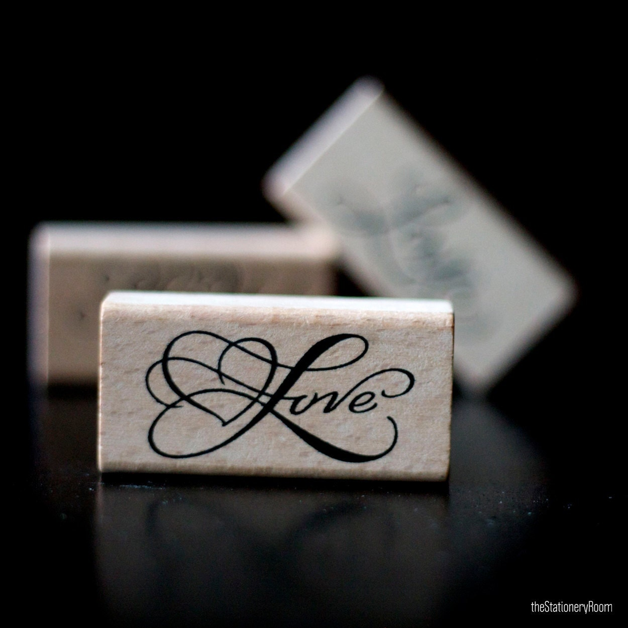 Love Calligraphy Script Font Wooden Rubber Love Stamp  Love Calligraphy Font