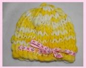 Newborn Hand Knitted Luxury Merino Beanie Hat Photography Prop Ready to Ship
