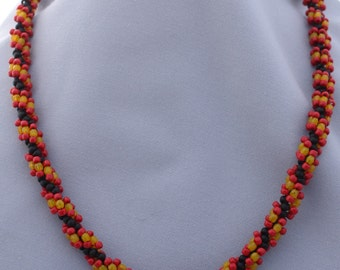 Spiral Fire Necklace - One of a Kind