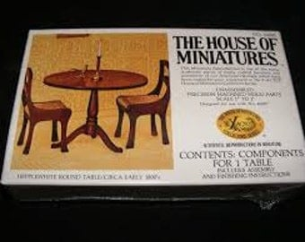 House of Miniatures Hepplewhite Round Table/ Circa Early 1800's Kit 40005