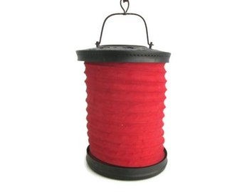 Vintage Red Lantern CIJ Collapsible Hanging Outdoor Decor