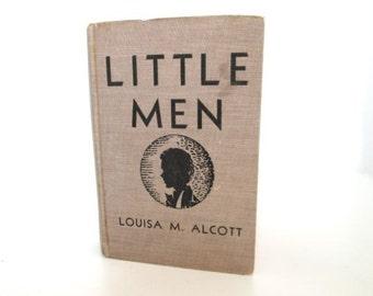 Antique Book Little Men Vintage Hardcover Collectors Louisa Alcott