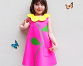 Pink Flower Girls Dress
