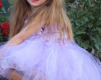 Sophia lavender and white flower girl dress, for weddings, wedding party, birthdays,photoprop, tea party