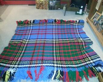 Free Crochet Patterns Tartan Rugs : Tartan afghan Etsy