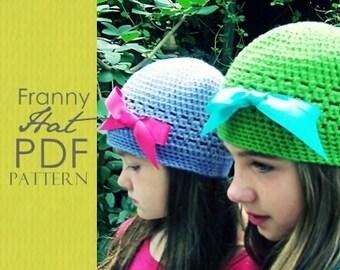 The Franny Hat Crochet PDF Pattern (newborn to adult)