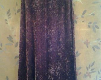 90s crushed velvet long skirt