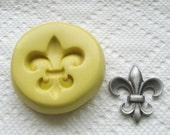 Fleur de Lis ornament  - Food Quality non-toxic flexible silicone mold/mould