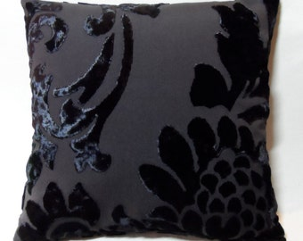Stock Clearance. Set of 2 Handmade Cushion Covers, 16 Inches x 16 Inches. Dark Brown. Zip in the bottom