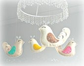 Baby crib mobile - Bird mobile - baby mobile - You pick your colors - polka dot - nursery decor