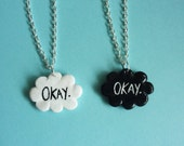 One- The fault in our stars inspired 'Okay?' Necklace