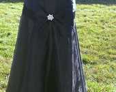 black long skirt with bow  size 8