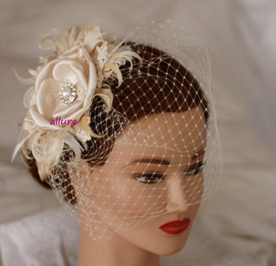 Vintage Wedding Hairstyles With Birdcage Veil: Items Similar To BIRDCAGE VEIL Vintage Style Wedding