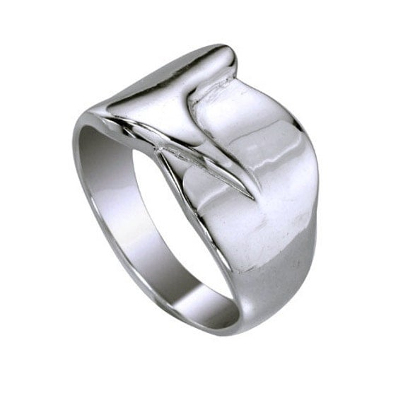 thick band ring band sterling silver ring plain by