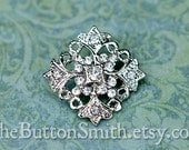 Rhinestone Buttons -Victoria- (25mm) RS-037 - 5 piece set