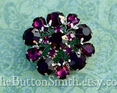 Rhinestone Buttons -Annelise- (24mm) RS-032 - 5 piece set