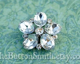 Rhinestone Buttons -Chloe- (22mm) RS-027 - 5 piece set