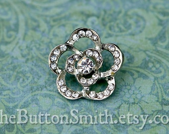 "Rhinestone Buttons ""Anika"" (21mm) RS-051 - 20 piece set"