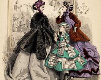 Victorian fashion 1870-women's-outfits-look-Victorian era-Queen Victoria