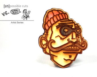 Creeper Pin Designed by Super Ugly - Artist Line - Handmade - Laser Cut