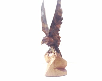 EAGLE hand carved ...use for home decor, shadow boxes, collect, anything you can imagine.