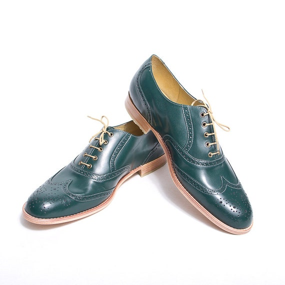 Emerald green oxford brogue shoes - FREE WORLDWIDE SHIPPING